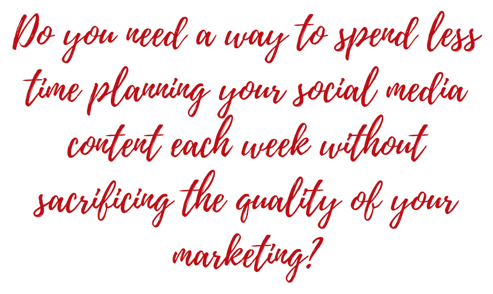 free social media content planning email course