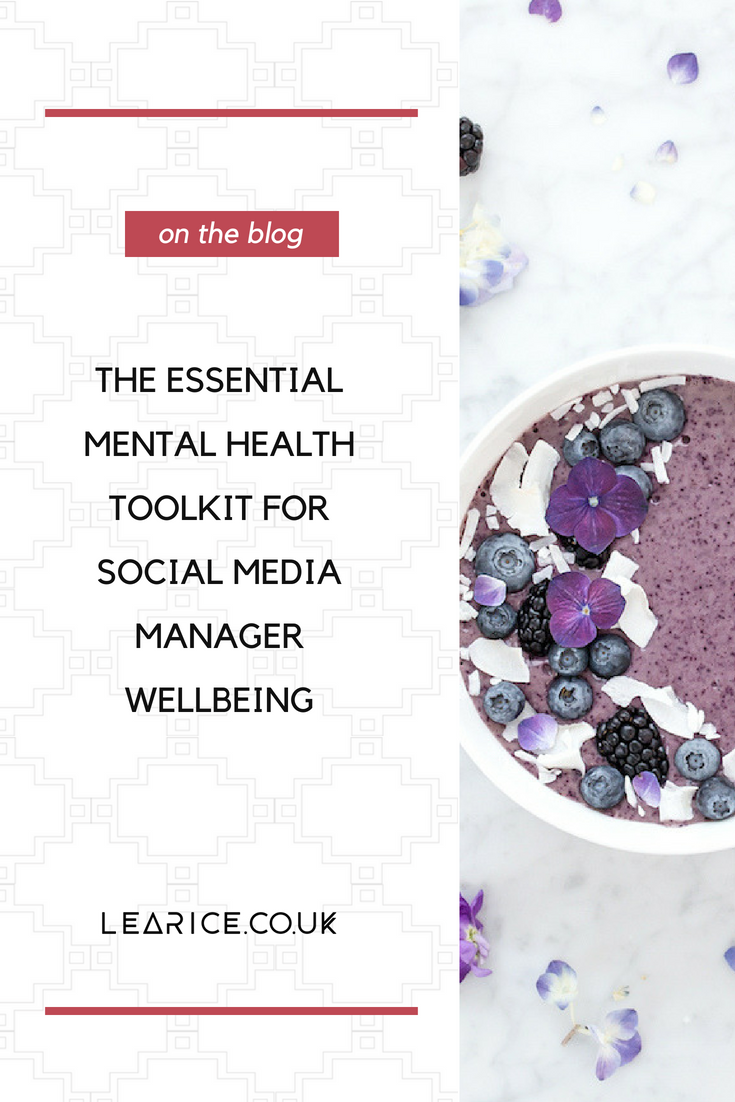 The essential mental health toolkit for social media manager wellbeing